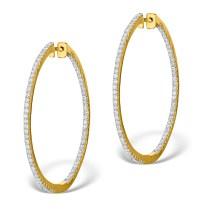 Diamond Hoop Earrings | TheDiamondStore.co.uk