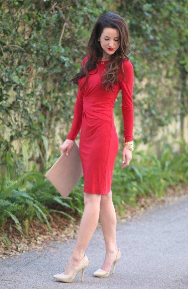 Ralph Lauren Red Crewneck Dress Diary Of Debutante