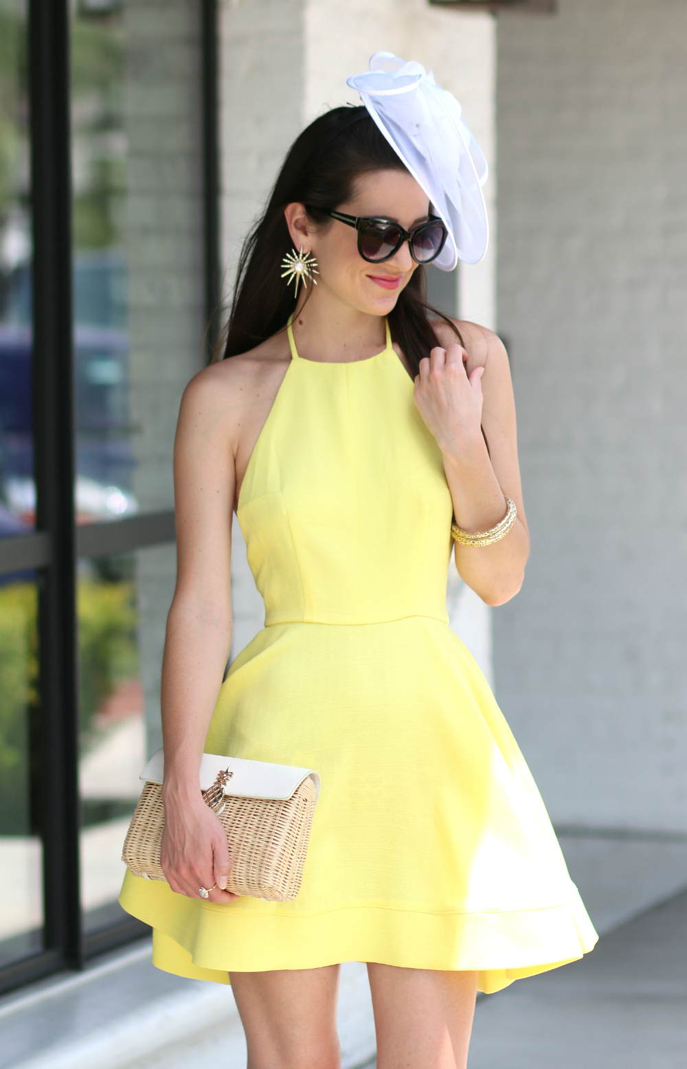 yellow derby dress and