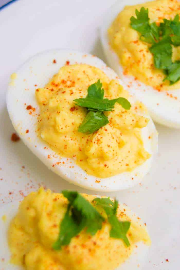 Classic Deviled Egg - high protein snack recipes