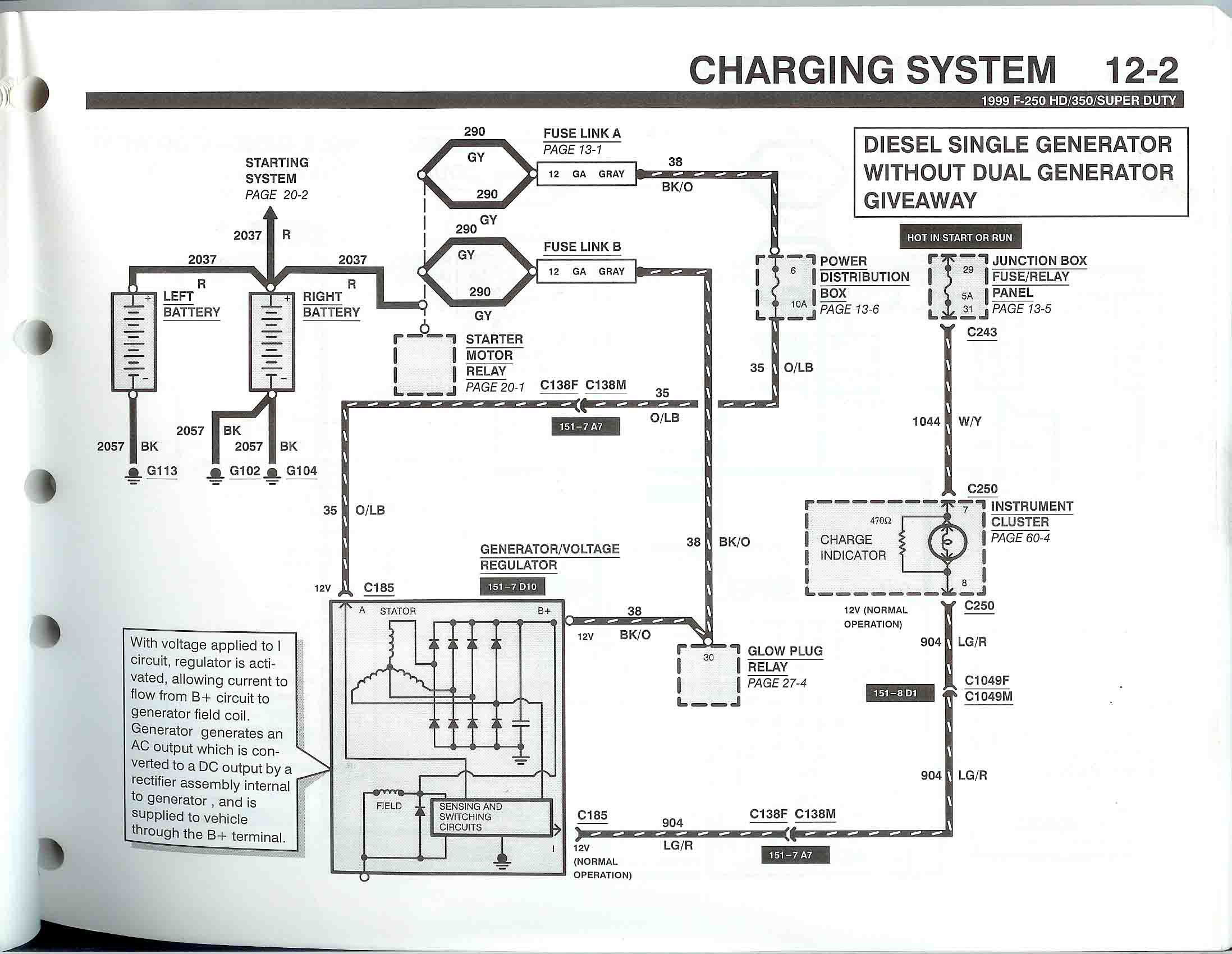 charging alternator wiring diagram simple for light bar f350 2007 diagramalternator on 1g ford muscle forums fordford