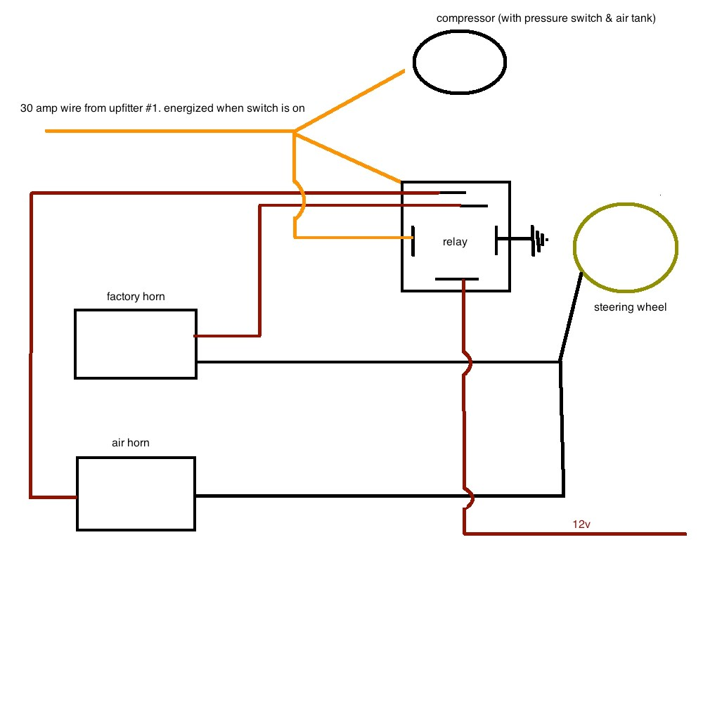 medium resolution of air horn wiring diesel forum thedieselstop com car horn wiring diagram click image for larger version