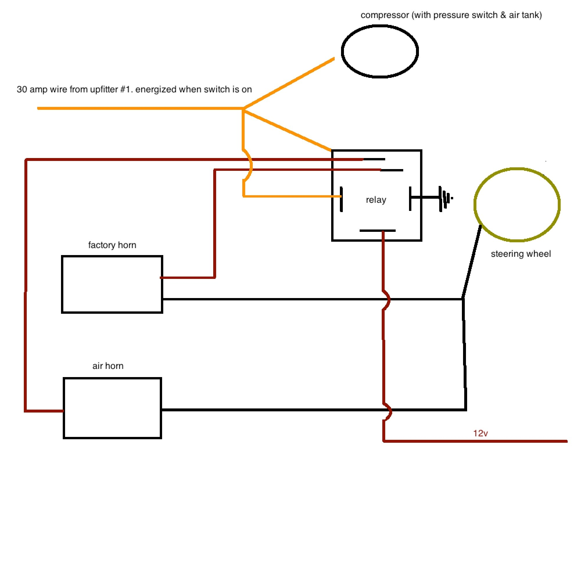 hight resolution of air horn wiring diesel forum thedieselstop com car horn wiring diagram click image for larger version