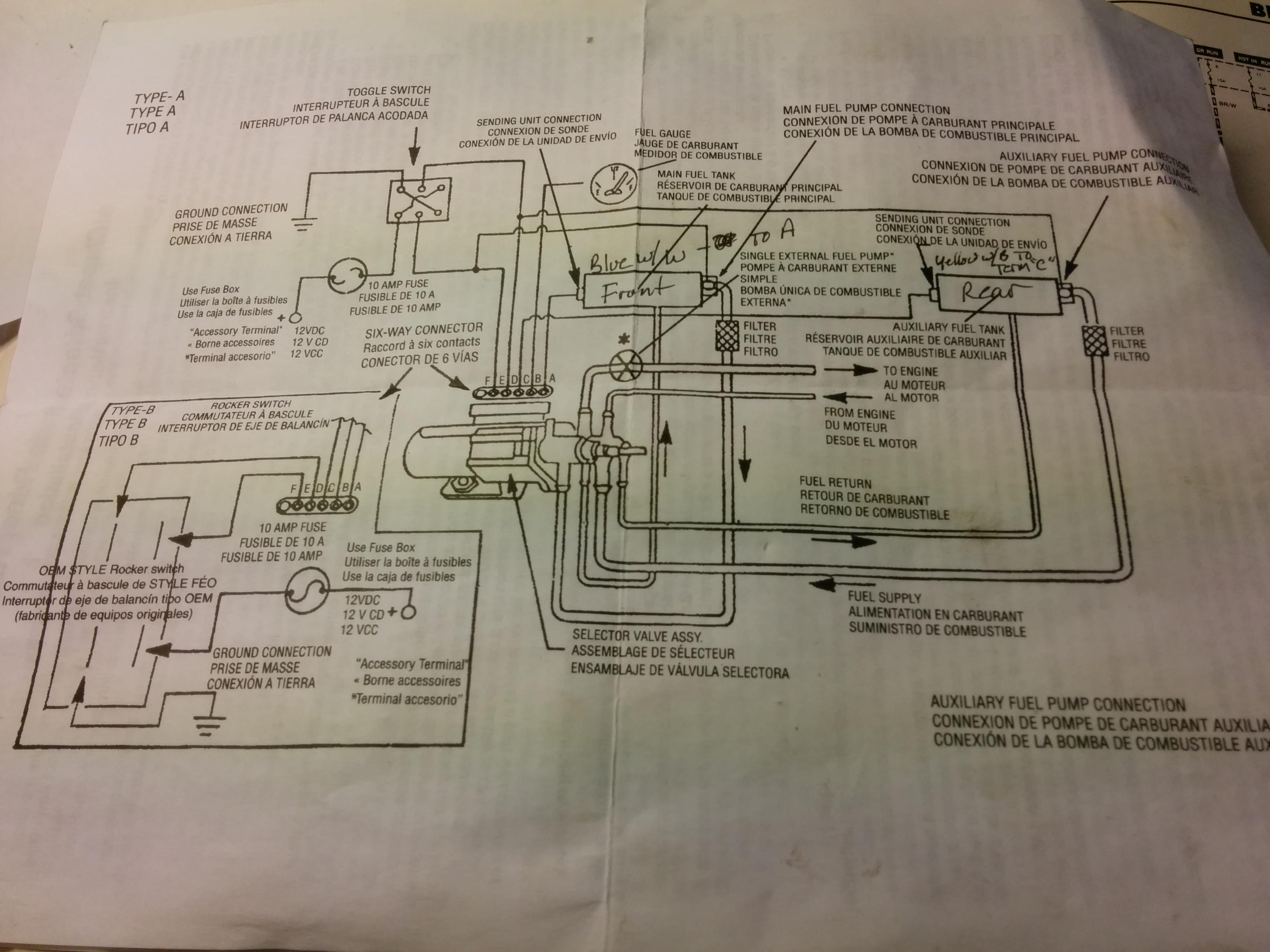 Dual Tank Fuel System Diagram On Ford F 150 Fuel Pump Wiring Diagram