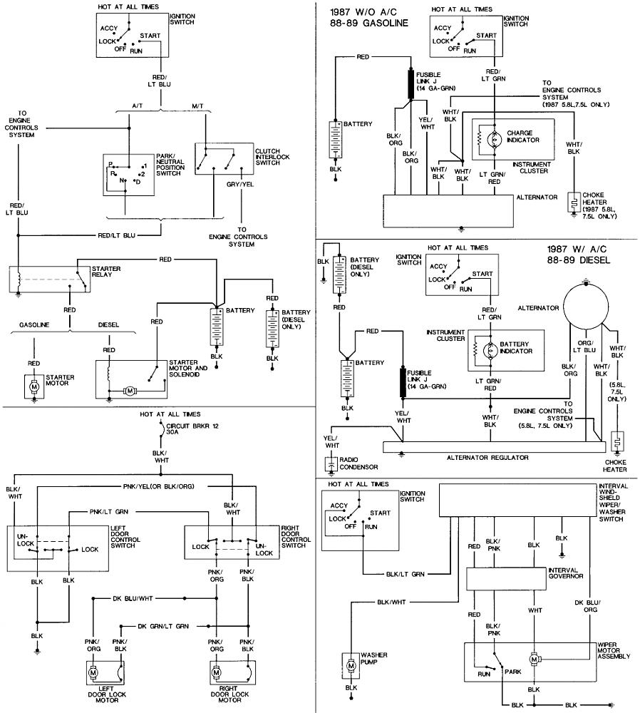 hight resolution of 1991 f350 wiring schematic wiring library rh 58 akszer eu 1991 ford f250 radio wiring diagram 1991 ford f350 alternator wiring diagram