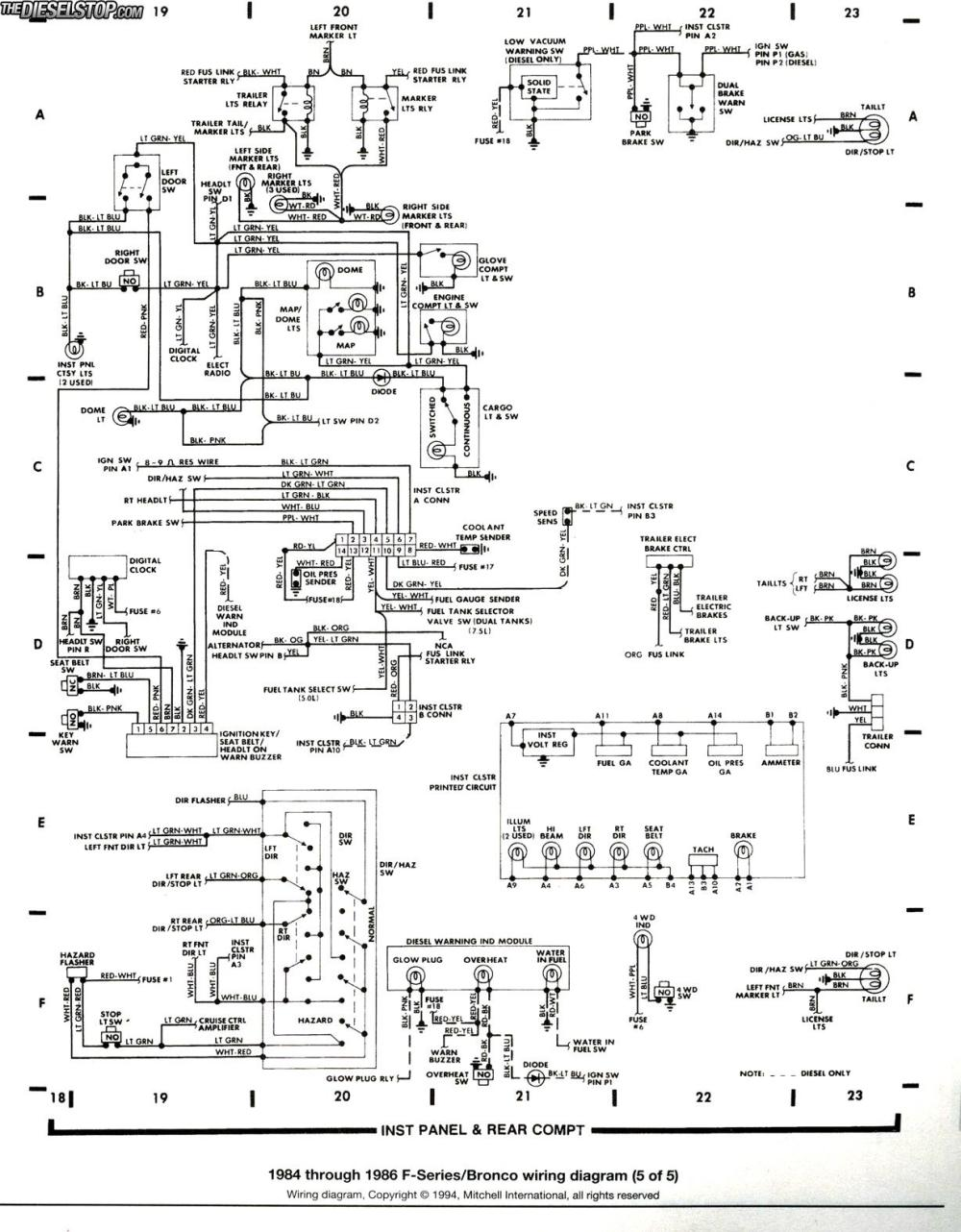 medium resolution of 85 bronco alternator wiring diagram wiring diagrams schematic1993 ford bronco alternator wiring best wiring library basic