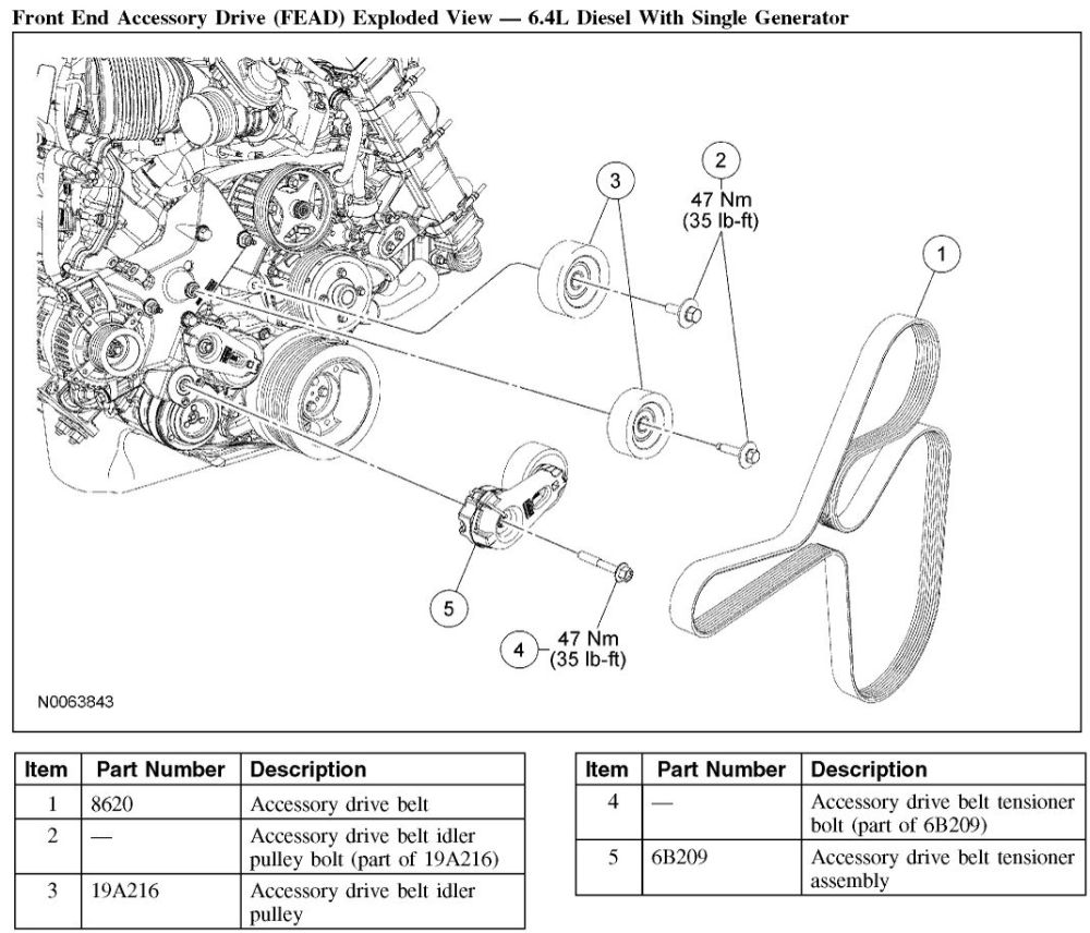 medium resolution of 08 f350 64 belt diagram wiring diagram 6 4 powerstroke serpentine belt diagram 2008 6 4 powerstroke