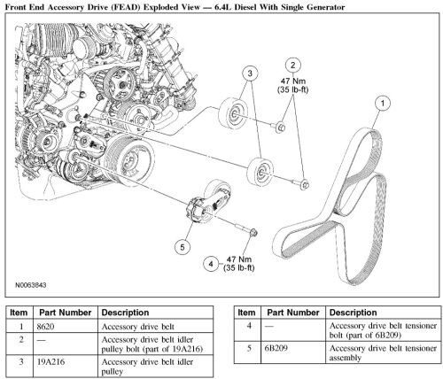 small resolution of 08 f350 64 belt diagram wiring diagram 6 4 powerstroke serpentine belt diagram 2008 6 4 powerstroke