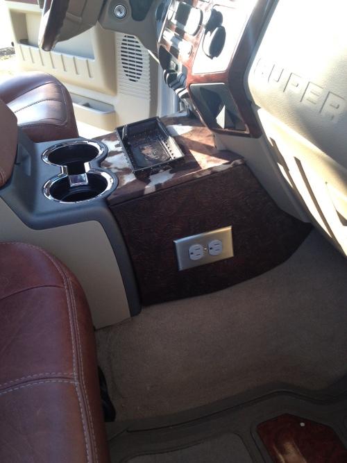 My Custom Center Console F350 KR Diesel Forum