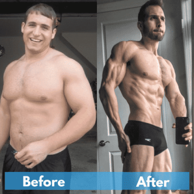A weight loss transformation photo
