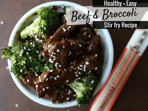 This HEALTHY and EASY Beef and Broccoli Stir Fry Recipe is absolutely to die for! It's almost as easy as making beef and broccoli in the crockpot, but this stir fry recipe tastes EVEN BETTER! Plus, this healthy beef and broccoli stir fry is a low carb recipe too, which is always a plus in my book.