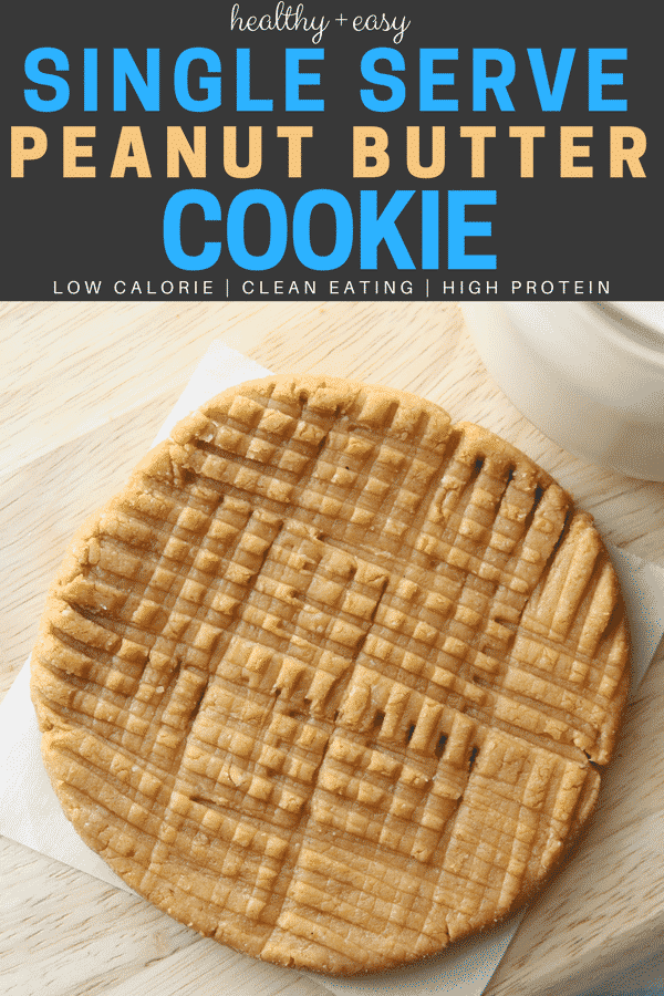 Healthy and easy peanut butter cookie recipe! This is the BEST flourless cookie recipe you'll ever try! Plus, these soft and chewy peanut butter cookies are gluten free, low carb, and high protein too.