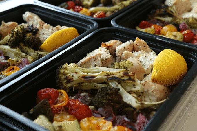 Healthy chicken meal prep recipe