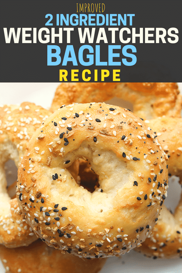 2 Ingredient bagles! This popular Weight Watchers bagel recipe just needed a few tweaks to make them ABSOLUTELY PERFECT