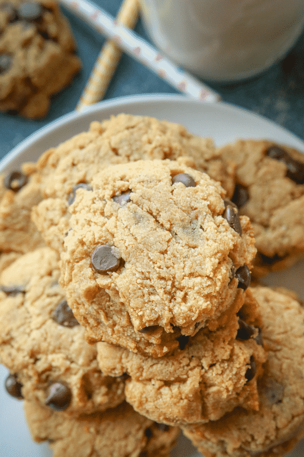 EASY Keto Cookies! These are THE BEST Low Carb Peanut Butter Chocolate Chip Cookies you'll ever make, and ONLY 2 NET CARBS!