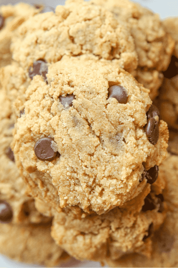 EASY Keto Cookies! These are THE BEST Low Carb Peanut Butter Chocolate Chip Cookies you'll ever make. Plus, they ONLY have 2 NET CARBS!