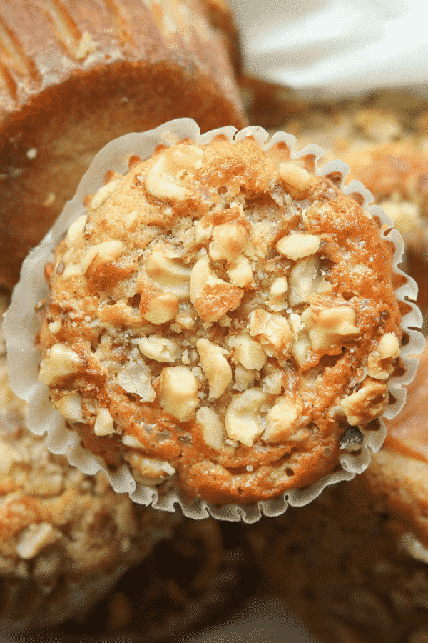 Keto Banana Nut Muffins | The. BEST easy low carb muffin recipe