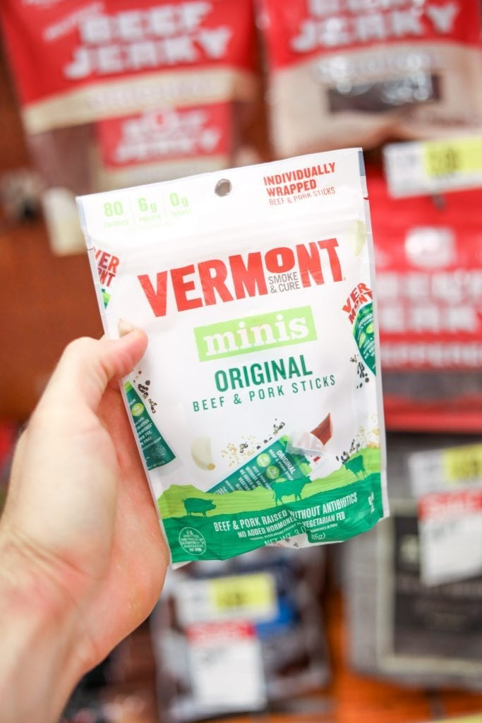 One of the BEST Keto Snack Ideas is these Vermont Mini Meat Sticks. They are a tasty Low Carb Snack!