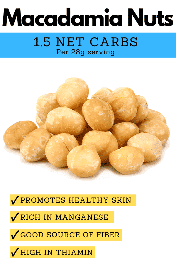Macadamia Nuts and a description of why they're one of the best keto nuts.
