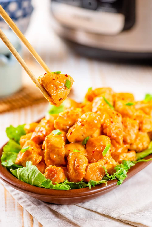 Instant Pot Keto Orange Chicken Recipe | Crockpot Option Too