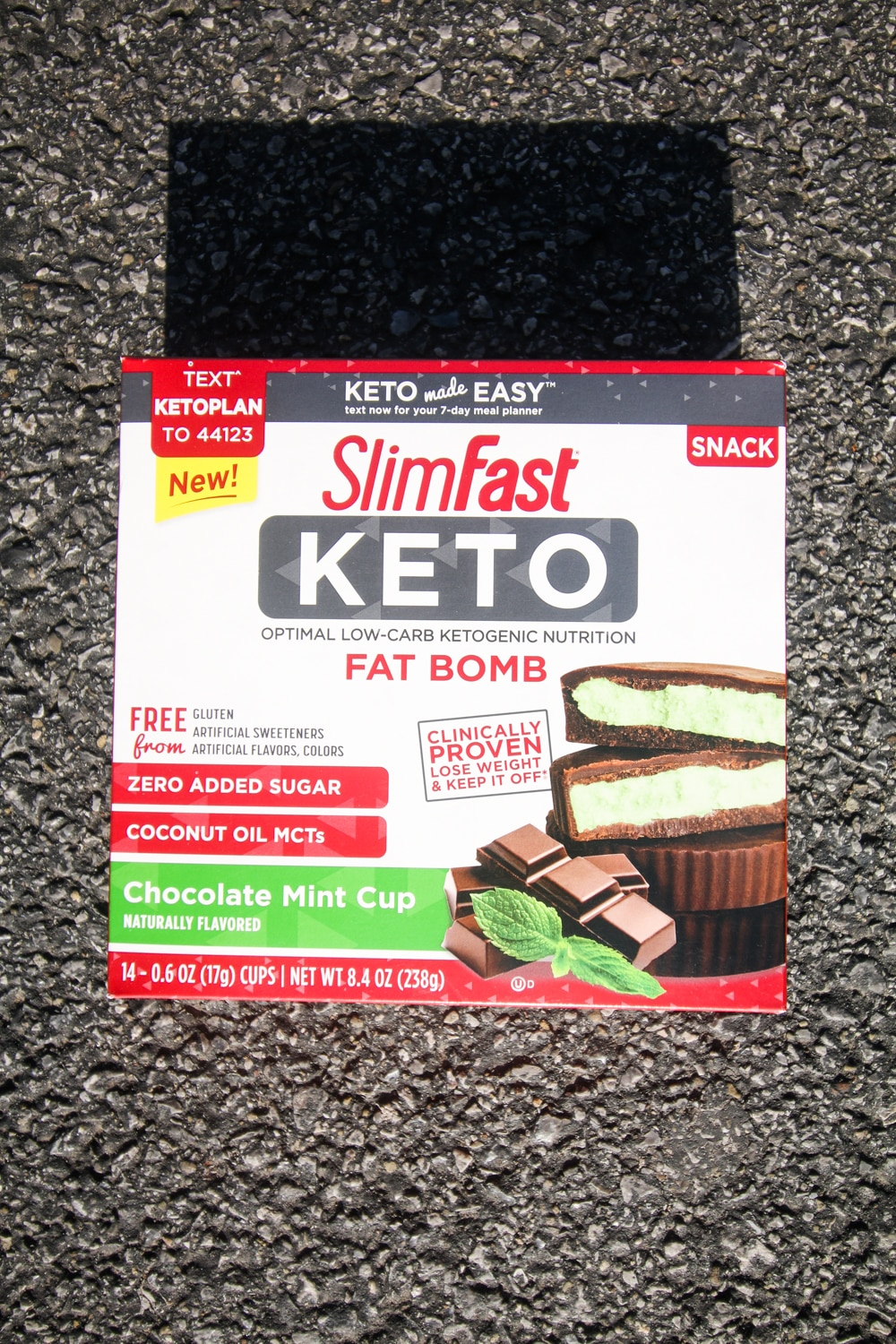 A box of mint chocolate fat bombs.