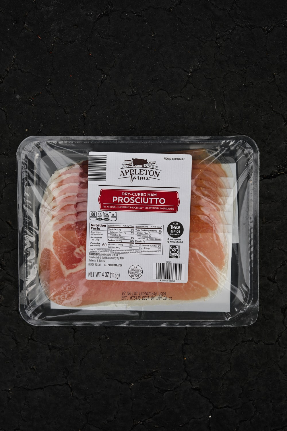 A package of prosciutto.