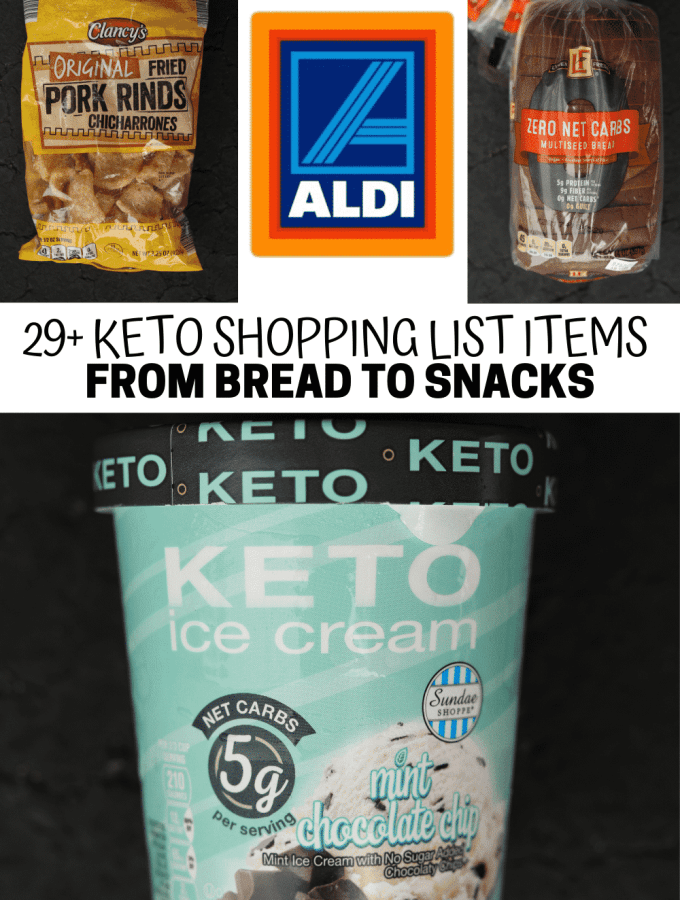 A compilation of some of the BEST items to add to your keto aldi shopping list.