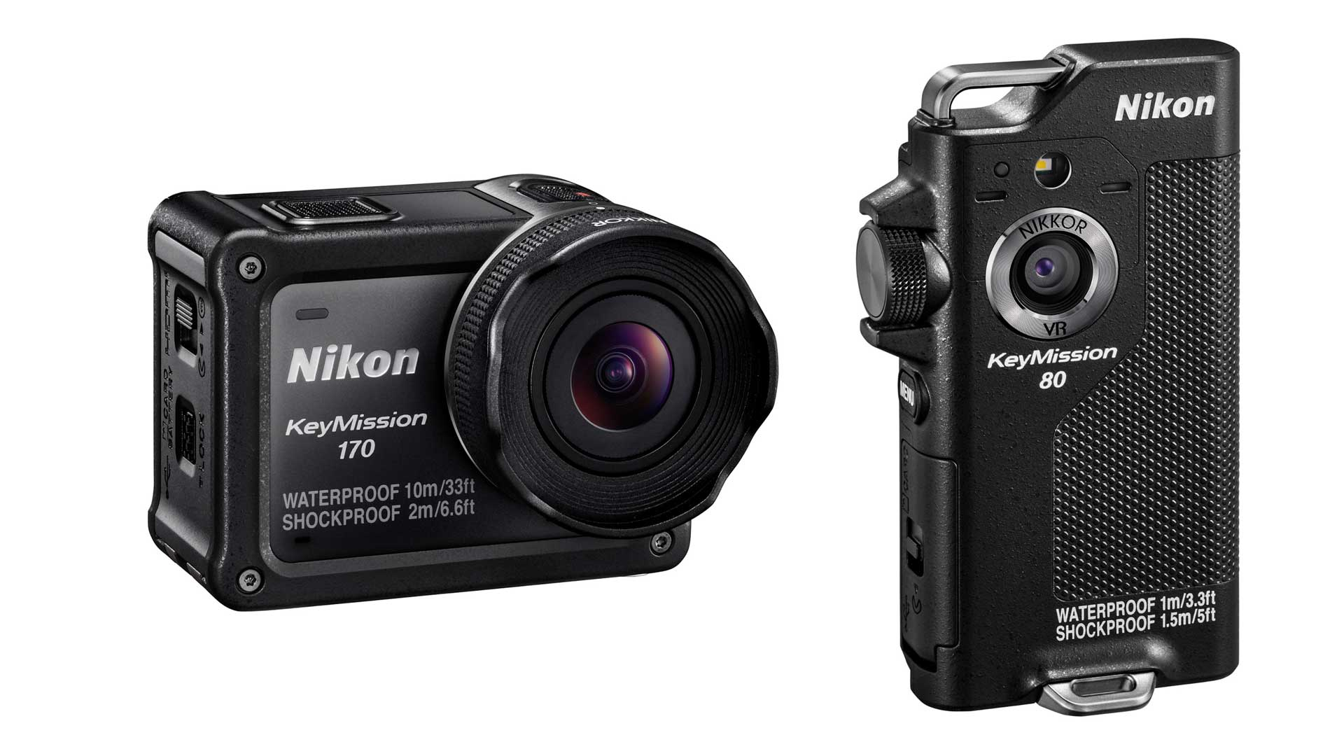 Nuove action cam Nikon KeyMission 170 e KeyMission 80