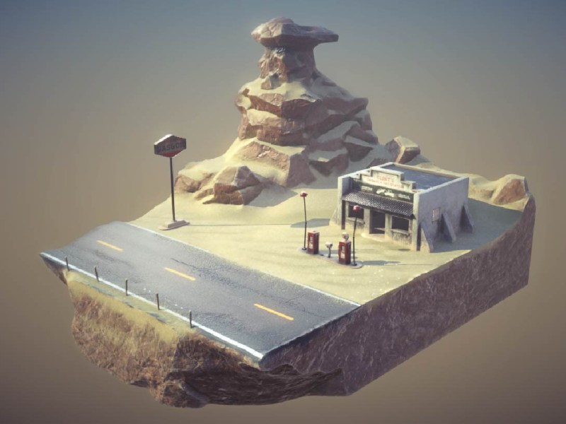Gas Station Diorama