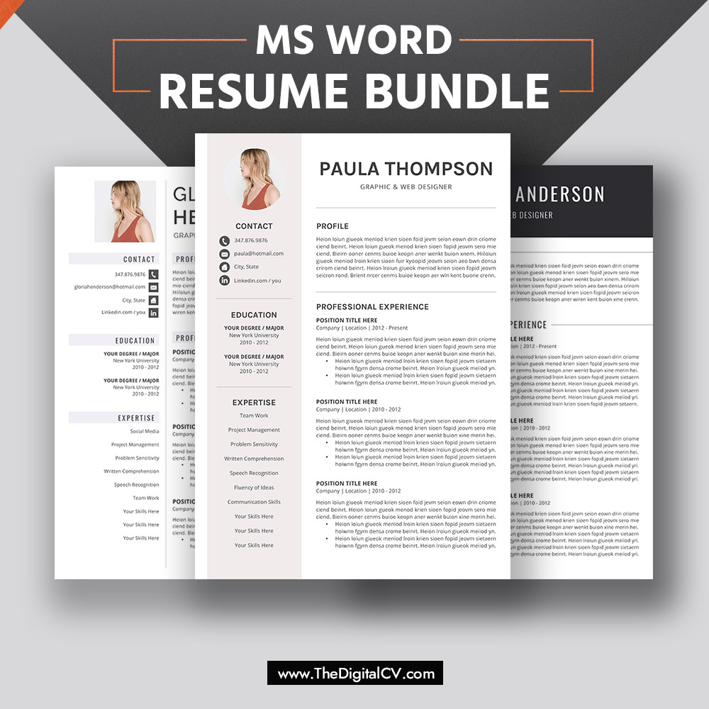 professional resume font