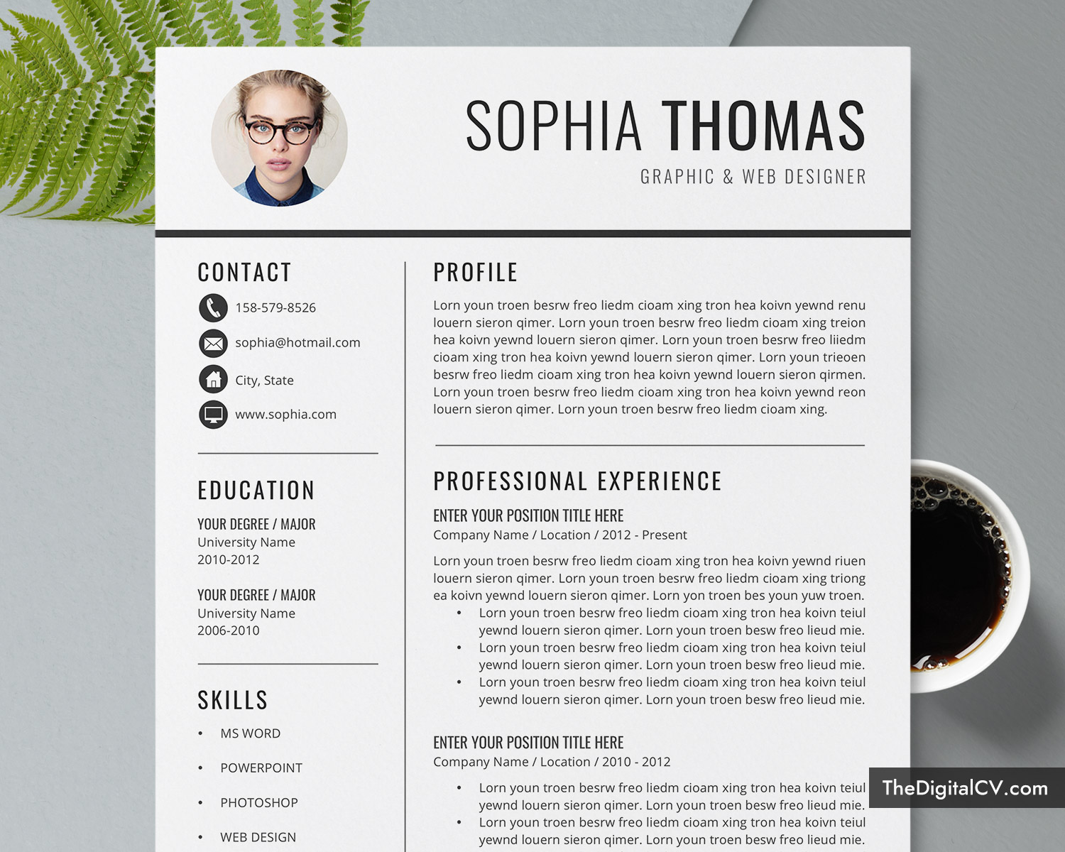 Customize the font and verbiage of this resume template to make an unforgettable statement. 12 Creative And Modern Resume Cv Templates With Photo Microsoft Word Resume Templates For Both Mac Pc Unlimited Digital Instant Download Thedigitalcv Com