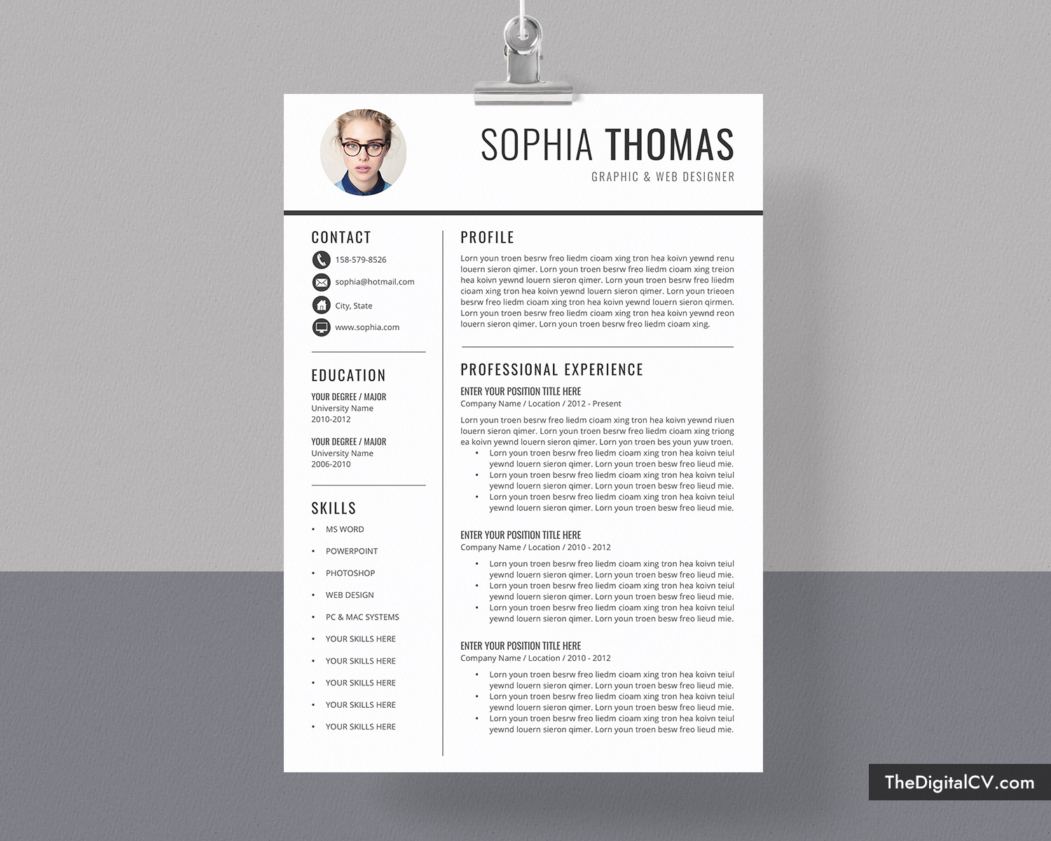 Use this guide to learn about professional development opportunities, internships, and other ways to build skills as a grad student. Professional Resume Template Cv Template Curriculum Vitae Modern Resume Format Ms Word Resume Fresh Graduate Resume Template Student Resume Template 1 Page 2 Page 3 Page Resume Instant Download Thedigitalcv Com