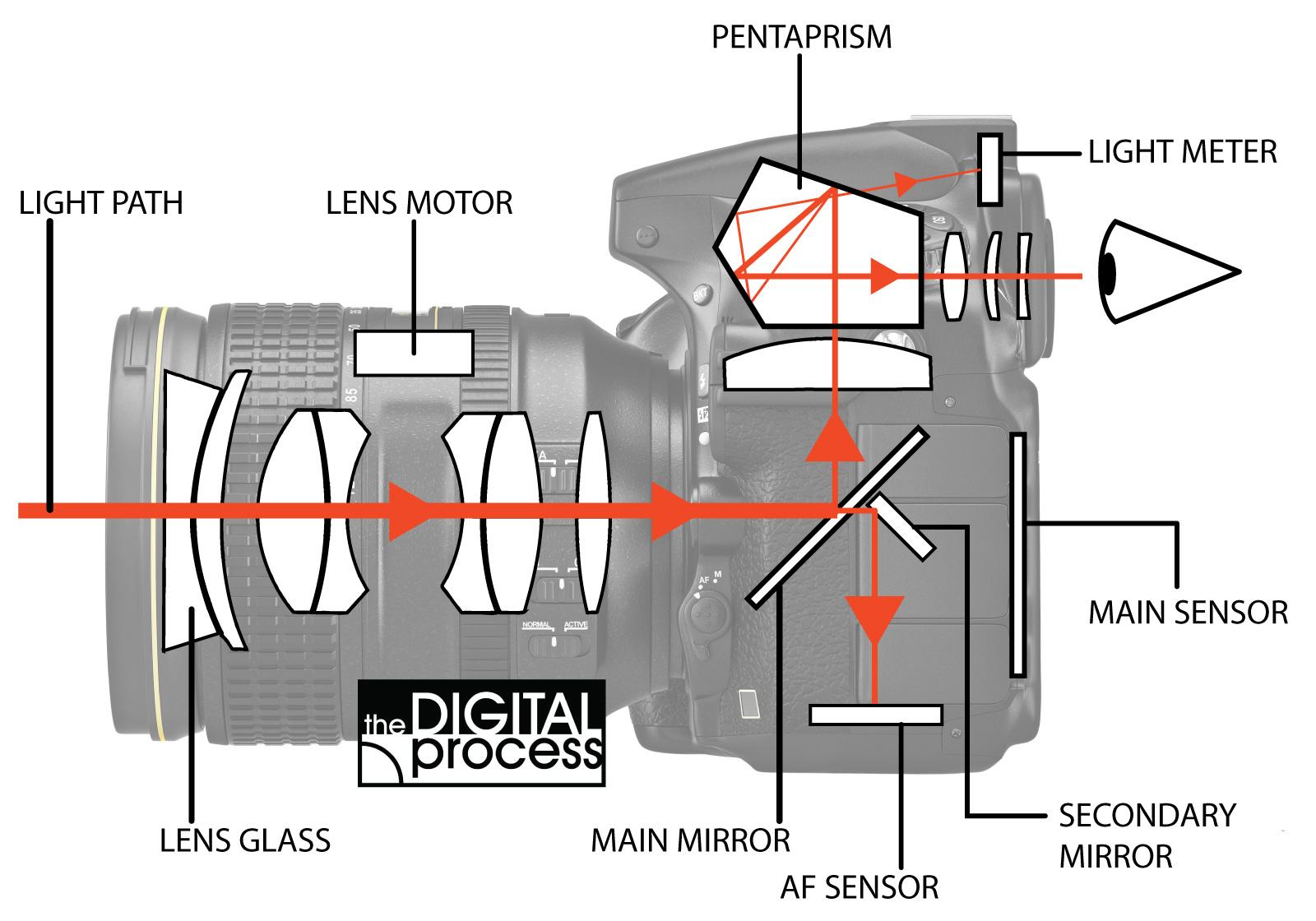 hight resolution of how cameras focus light path diagram
