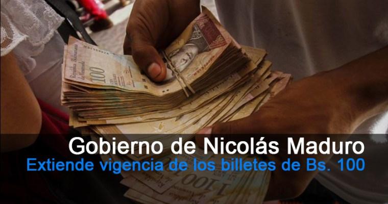 Entienden vigencia de los billetes de Bs. 100 hasta el 20 de enero