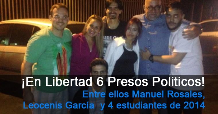 Liberados Manuel Rosales y otros 6 presos políticos