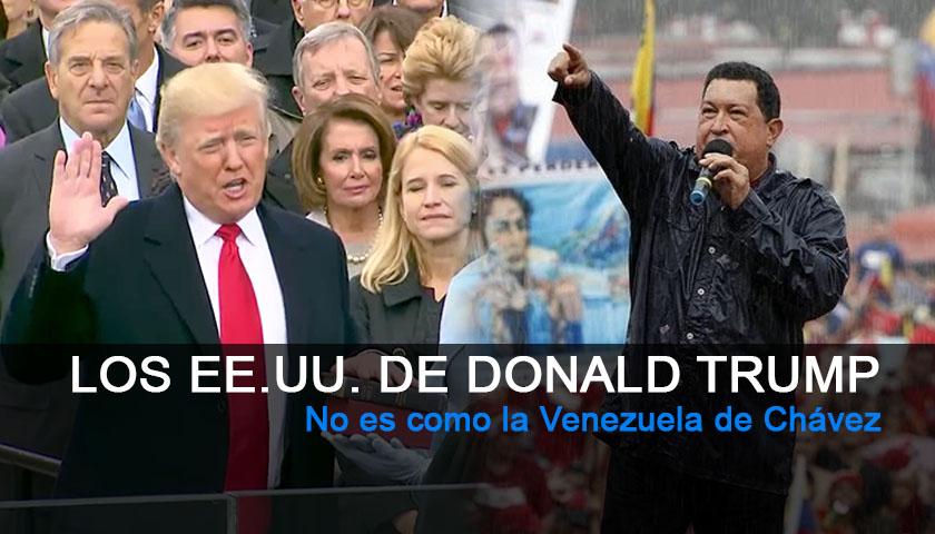 Los Estados Unidos de Donald Trump. No es como la Venezuela de Chávez