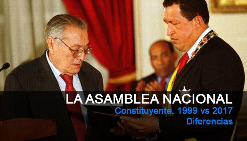 Asamblea Nacional Constituyente. 1999 vs 2017: Diferencias