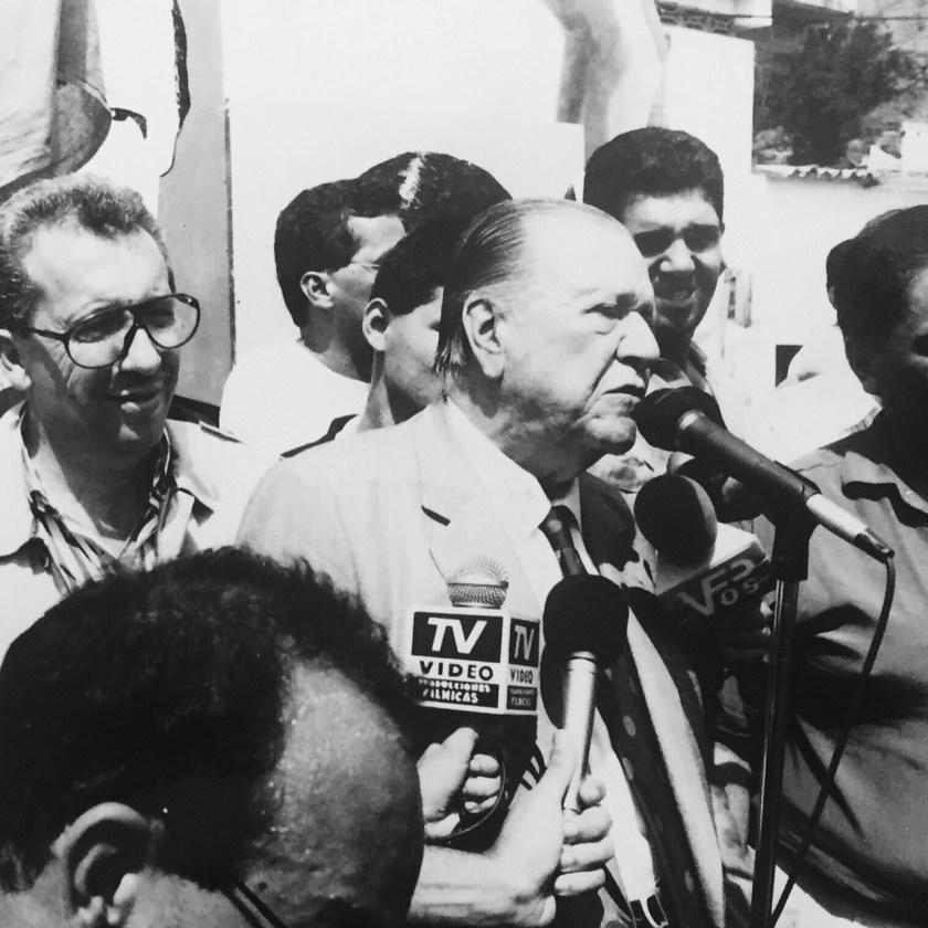 Rafael Caldera Campaña Presidencial de Venezuela Mérida 1993.