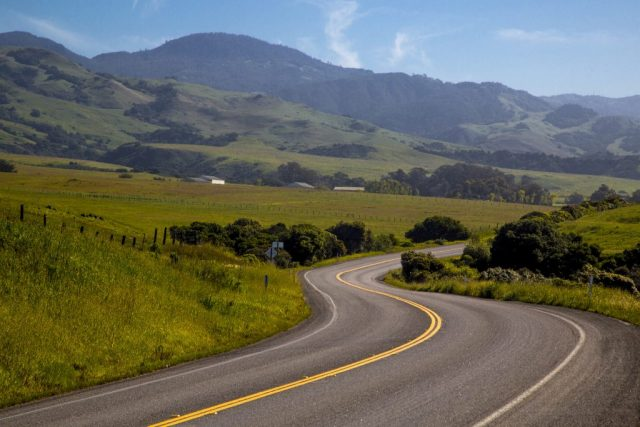Pacific Coast Highway by Hearst Castle