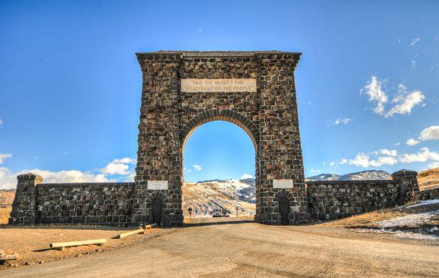 Gardiner Montana Yellowstone's north entrance