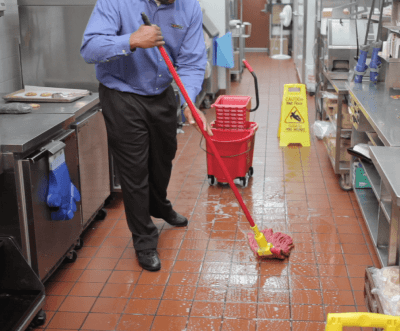 Mopping challenges