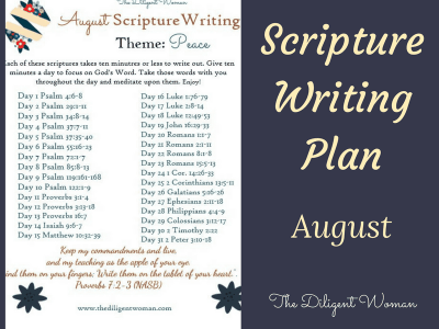 August Scripture Writing Plan – Peace