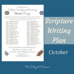 October Scripture Writing – Prayer