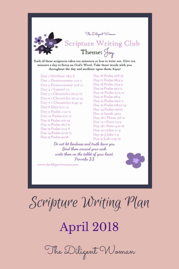 Do you need a little more joy in your life? Of course you do! Join The Diligent Woman this month is writing scriptures expressing great joy and praises to the Lord God above!