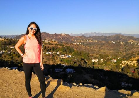 Runyon Canyon Trail View with Hollywood Sign