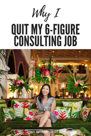 Why I quit my 6-figure corporate job and why you might want to also. #entrepreneur #femaleentrepreneur #girlboss #TheDimpleLife