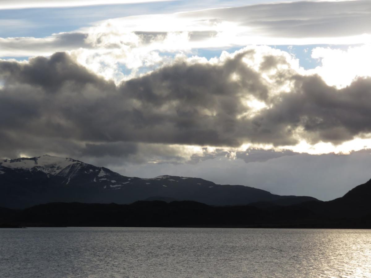 Sunset from Los Cuernos Refugio - Torres del Paine W Trail