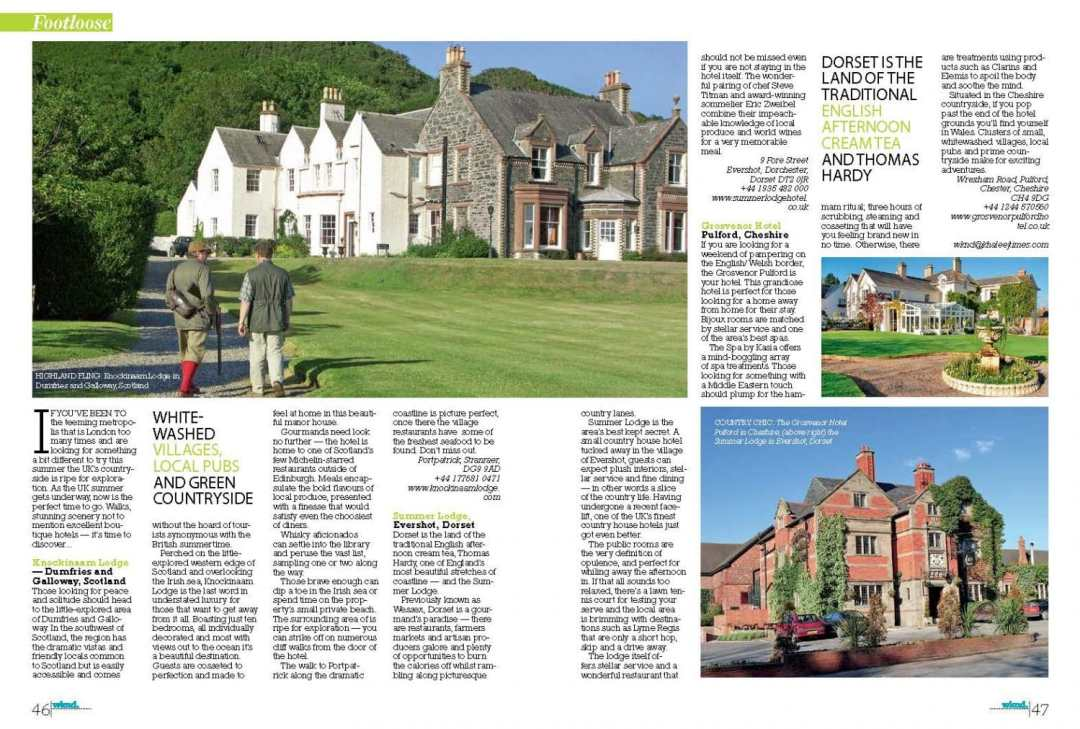 Country House Hotels in the UK - Julianna Banraby