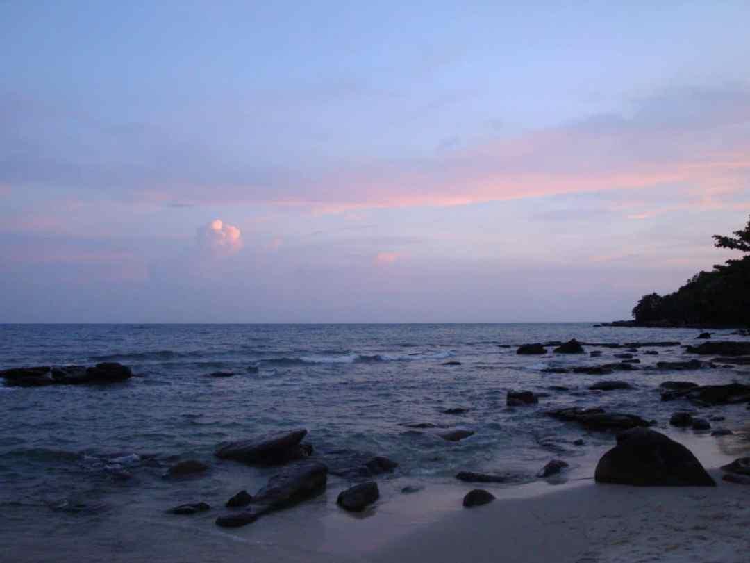 Beautiful sunset in Sihanoukville, Cambodia