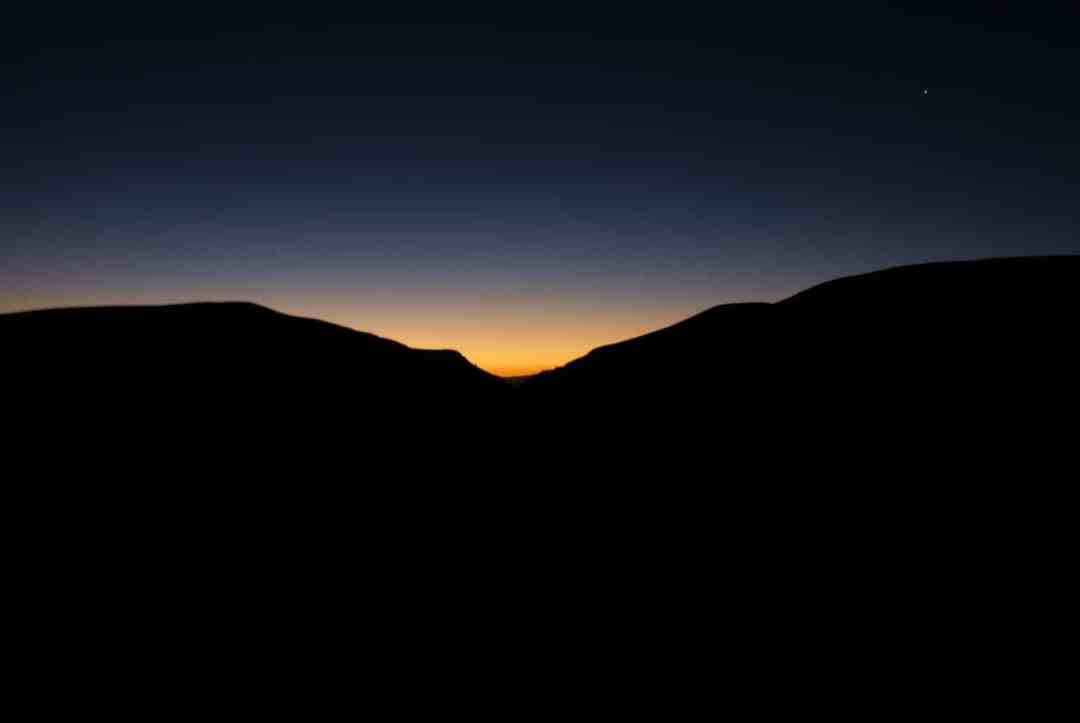 Sunset over Guatin in the Atacama Desert
